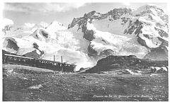 Chemin de fer du Gornergat et le Breithorn Post Card from c1930