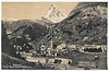 Zermatt & Mont Cervin with railcar. Post Card from c1930