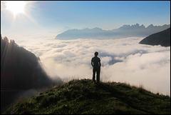 Wanderer über dem Wolkenmeer