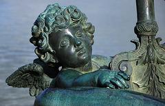 Angelot de la statue du Rhône - Jardins de Versailles