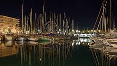 SAINT-RAPHAEL: Le port de nuit 01.