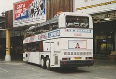 Yelloway Trathen E100 VWA in Victoria Coach Station, London - 22 Apr 1993