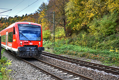 ...fährt nach Pforzheim...kurz vor dem Mühlener Tunnel