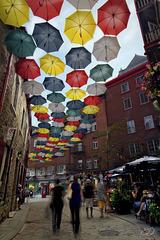 Les parapluies du petit Champlain