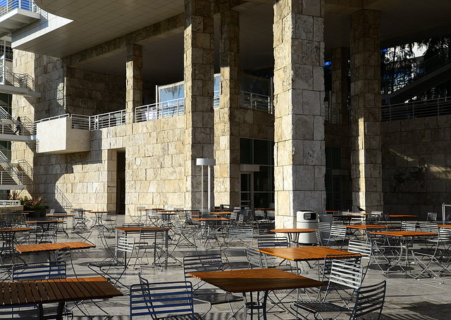 Café at the Getty Museum