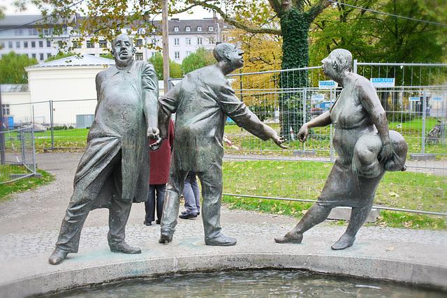 Aachen, Brunnenfiguren