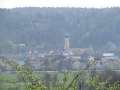 Blick zur Kirche Saltendorf