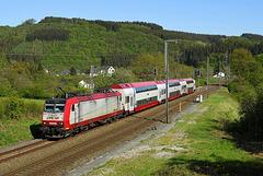 Traxx CFL sur la Ligne du Nord