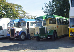 DSCF4993 Preserved coaches at Bourne - 29 Sep 2018