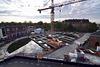 Building work for a new underground parking on the Garenmarkt