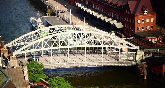 Die Kornhausbrücke über den Zollkanal