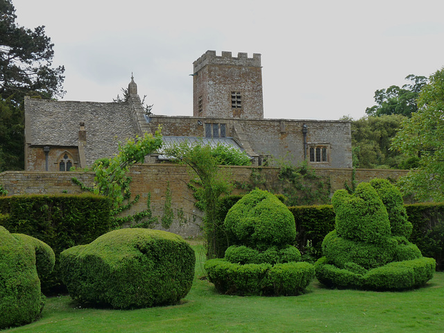 Topiary at Chastleton House and St Mary's Church