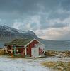 A fisherman's house in the Lofoten Islands
