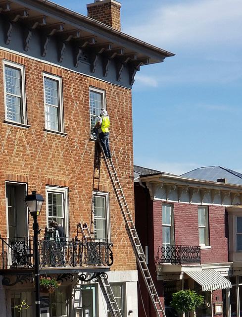49SH Up A Ladder