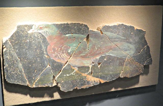 Jublains : fragment de décor mural.