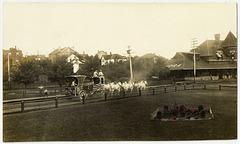 KN0381 KENORA - [8 WHITE HORSES & CIRCUS WAGON]