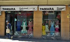 Flamenco dress shop in Jerez