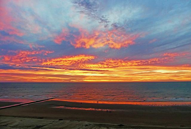 Sunset at Westende Belgium