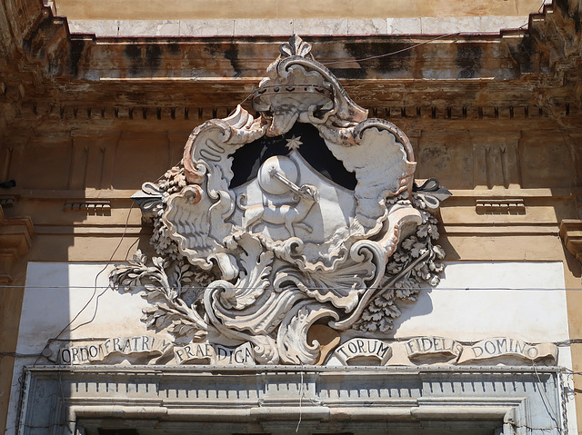 Ornate device over the big front door