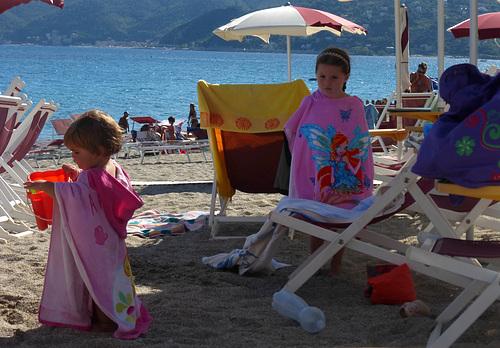 scènes de plage - les princesses