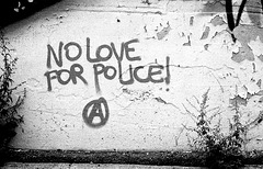 """No love for police!"""
