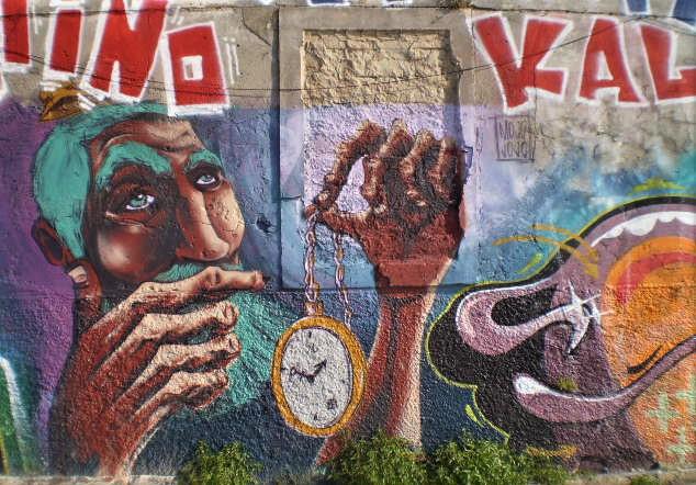 Clock mural, by Mojojojo.