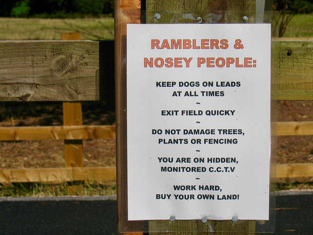 Ramblers & Nosey People, at the stile near Haselour Hall