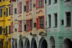 Rokkoko Fassade in Wasserburg