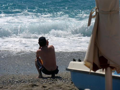 scènes de plage - le photographe