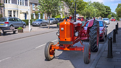 Tractor outside Crail Town Hall