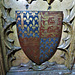 canterbury cathedral (101)royal arms in enamel heraldry on the c14 tomb of edward +1376 later known as the black prince
