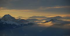 ..und abends leuchten die Nebel im Tal