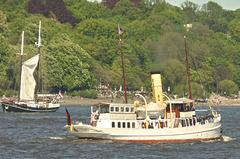 Dampfschiff SCHAARHÖRN bei der Parade zum Hafengeburtstag