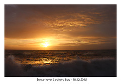 Sunset over Seaford Bay - 18.12.2015