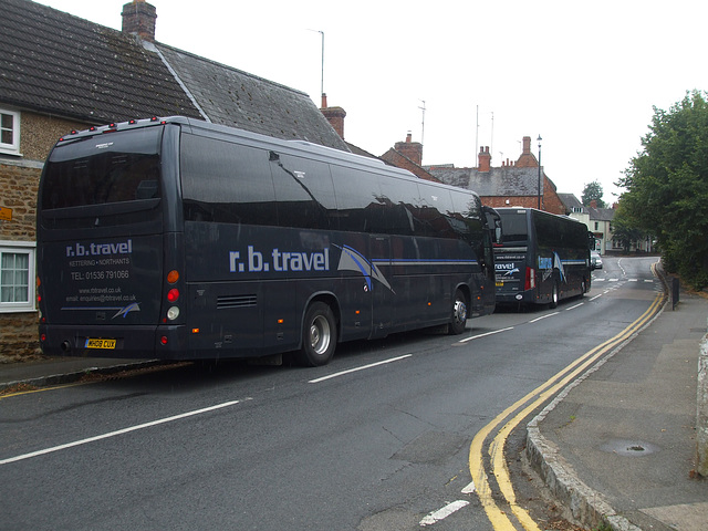 DSCF4880 R.B. Travel MH08 KUX and TH14 RBT  in Earls Barton - 25 Aug 2016