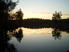 Sunset over Tapada Grande Dam.