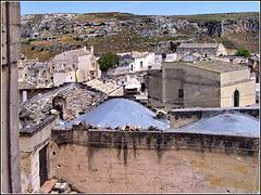 Matera : i tetti dei 'Sassi'