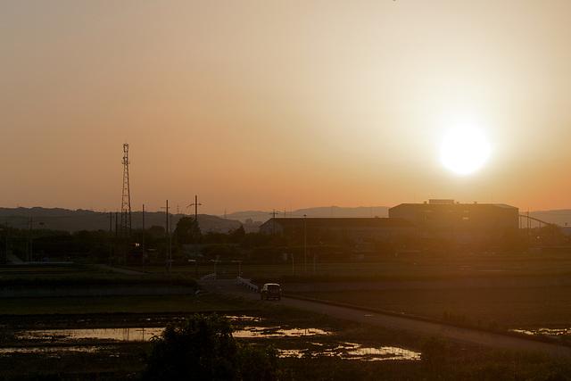 Coucher de soleil au Pays du Soleil Levant