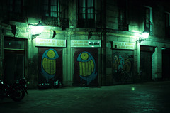 little square by night