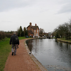 Approaching Bratch Locks on The Staffs and Worcs Canal