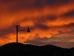 mammatus at the sunset