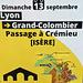 Crémieu (38) Passage du tour de France le 13 septembre 2020 vers 13 heures.