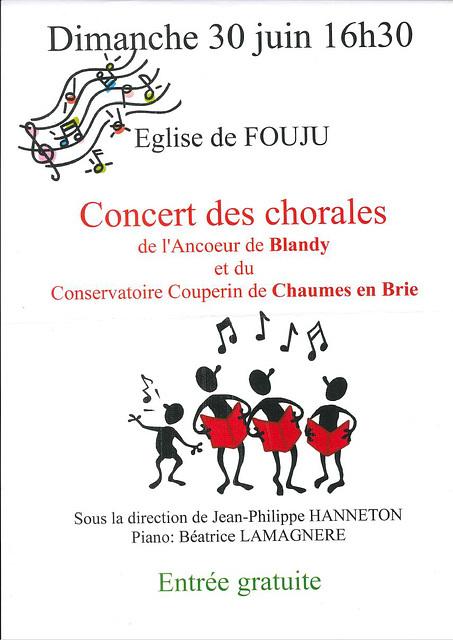 Concert à Fouju le 30 juin 2013