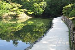 Parc de Ritsurin-koen à Takamatsu (Shikoku, Japon)