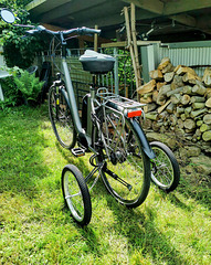 Mein Fahrrad mit 'Swinging Wheels'