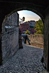 Quedlinburg: Blick aus dem Schloss zum Münzenberg