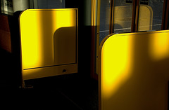 Yellow and Gold at the Metro Interchange