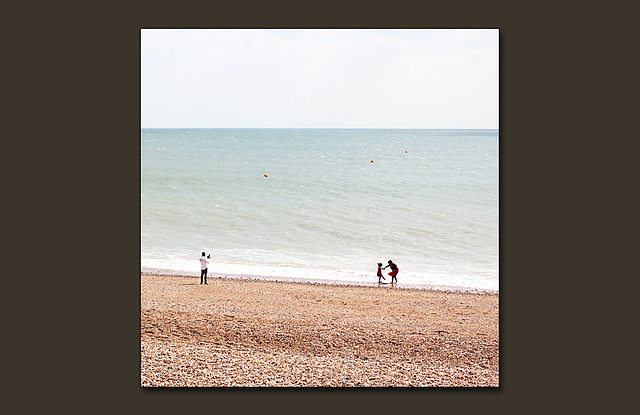 A first trip to the seaside perhaps? - Seaford - 9.7.2014