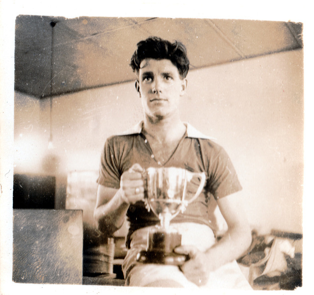 """""""Alec with cups"""" c1949"""