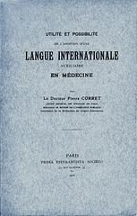 Corret - Utilité et possibilité d'une langue auxiliaire internationale en médecine